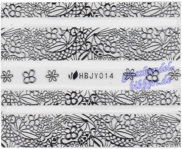 3D Lace Metallic Sticker, Silber